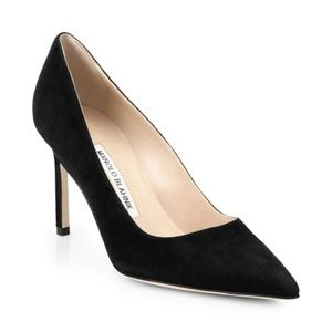 Manolo Blahnik BB90 Pump - Black Suede - 35.5